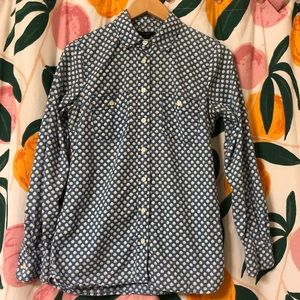 J Crew floral print chambray 💯 cotton size 4